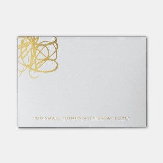 Post-it® Notes de post-it chics d'effet d'or