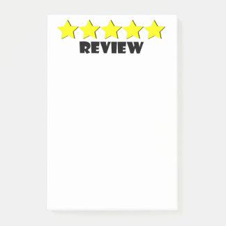 Post-it® notes de post-it cinq étoiles d'examen