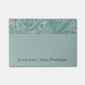 Post-it® Notes de post-it de marbre vertes faites sur
