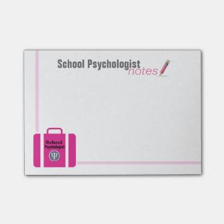 Post-it® Notes de post-it de résumé de rose de psychologue
