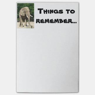 Post-it® Notes de post-it d'éléphant