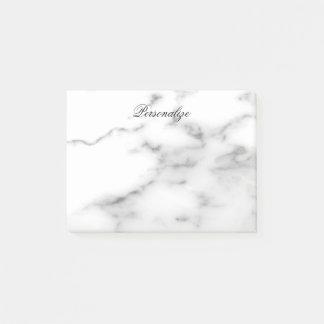 Post-it® Notes de post-it en pierre de marbre blanches