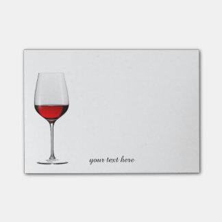 Post-it® Notes de post-it en verre de vin rouge