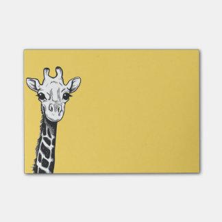 Post-it® Notes de post-it heureuses de girafe