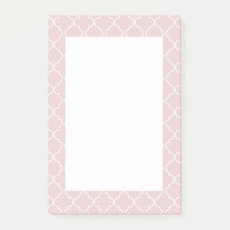 Post-it® Notes de post-it saumonées de rose de motif de