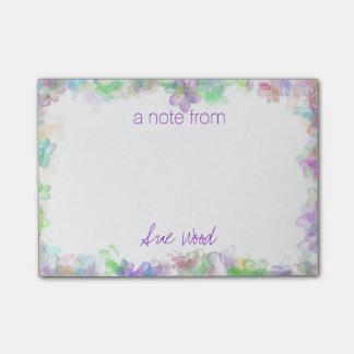 Post-it® Notes florales mystiques customisées de