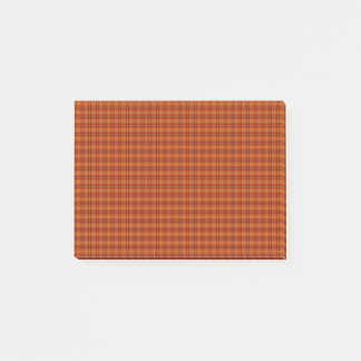Post-it® Notes oranges de Courrier-it® de tartan