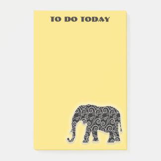 Post-it® Objet superflu noir sur le jaune pour faire la