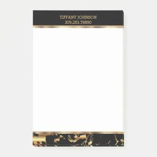 Post-it® Or et motif de marbre noir