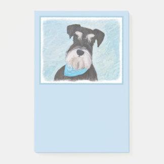 Post-it® Peinture (miniature) de Schnauzer - chien original