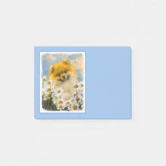 Post-it® Pomeranian dans les marguerites