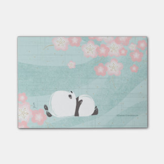 Post-it® Post-its de panda de zen (fleurs de prune)