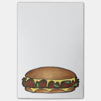 Post-it® Post-its de sandwich à la viande de fromage de