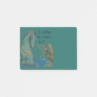 Post-it® Rappel fantaisie d'hippocampe et d'oiseau de pêche