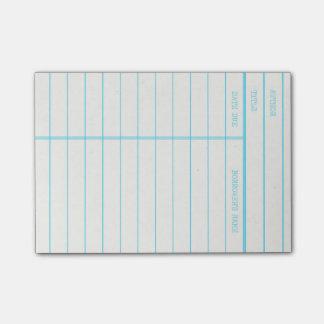 Post-it® Rétro carte due de date de livre de bibliothèque