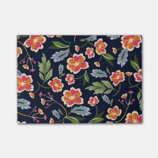 Post-it® Rétro illustration florale colorée de motif