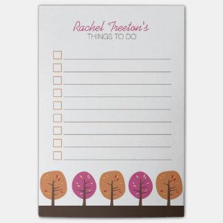 Post-it® Rétros arbres d'automne pour faire la liste