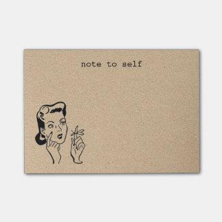 Post-it® Rétros notes de post-it bronzages de rappel de