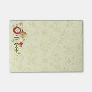 Post-it® Rétros ornements et neige - bonnes fêtes