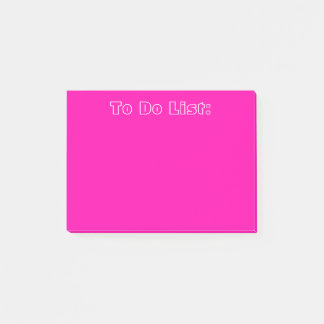 Post-it® Rose pour faire la liste