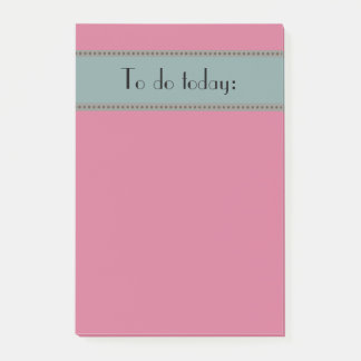 Post-it® Rose simple de base et bleu pour faire la liste