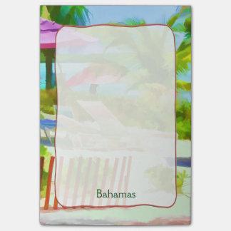 Post-it® Scène Painterly de plage de vacances d'été des
