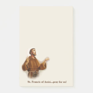 Post-it® St Francis du saint patron d'Assisi des animaux