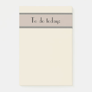 Post-it® Tan simple de base et gris pour faire la liste
