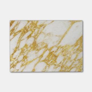 Post-it® texture de marbre et d'or