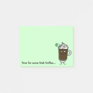 Post-it® Trèfle vert chanceux d'alcool de boissons de café
