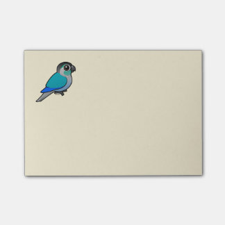 Post-it® Turquoise Conure Vert-cheeked