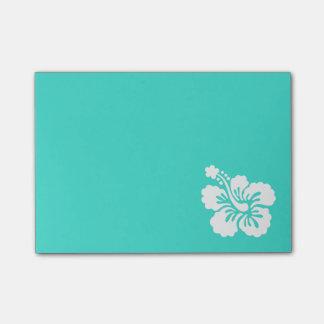 Post-it® Turquoise et ketmie blanche
