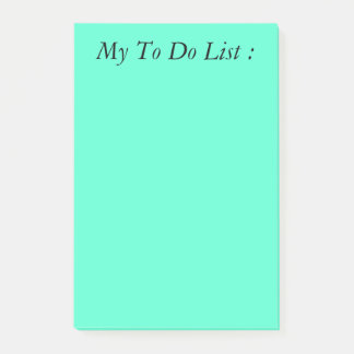 Post-it® Turquoise pour faire le post-it de liste