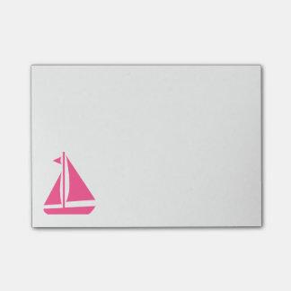 Post-it® Voilier rose nautique - bateau de bateau