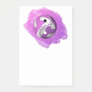 Post-it® volleyball pourpre rose de yin et de yang son nom