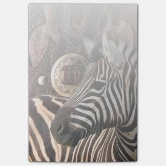 Post-it® zèbre primitif rustique d'animal de safari de