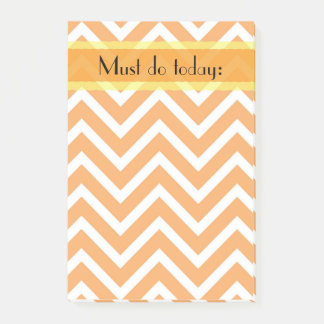 Post-it® Zigzag orange de Chevron pour faire la liste