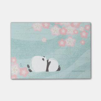 Post-its de panda de zen (fleurs de prune)