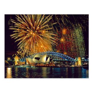 Postcard Sydney Opera House (Fireworks), Sydney Carte Postale
