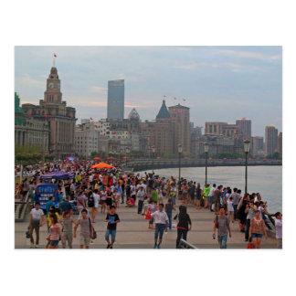Postcard The Bund from Huangpu River, Shanghai Carte Postale