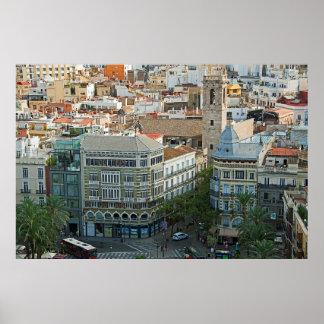 Poster Рanorama du centre de Valence