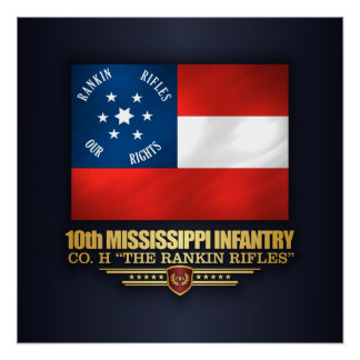 Poster 10ème Infanterie du Mississippi