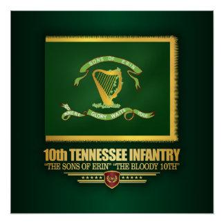 Poster 10ème Infanterie du Tennessee