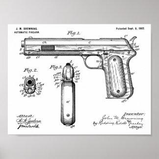 Poster 1902 brunissant la copie de dessin d'art de brevet