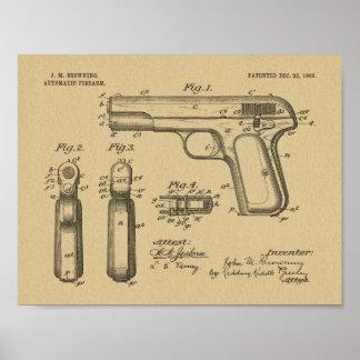 Poster 1903 brunissant la copie de dessin d'art de brevet