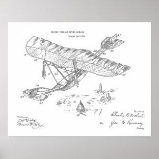 Poster 1915 copies vintages de dessin d'art de brevet