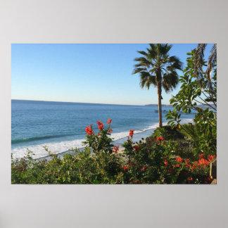 """Poster 19"""" x 13"""" plage de San Clemente"""