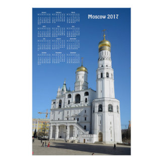 Poster 2017 calendrier Moscou (Russie)