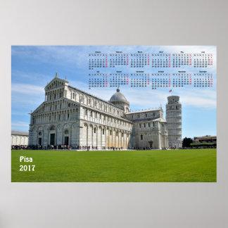 Poster 2017 calendrier Pise (Italie)