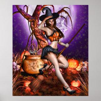 "Poster 24"" x 20"" ~Pumpkin Princess~ de Kris E. Pew"